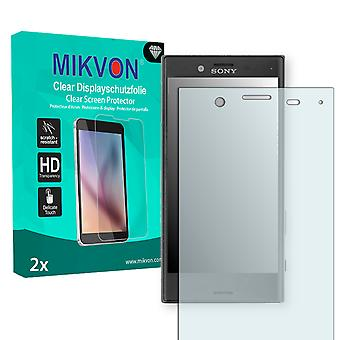 Sony Xperia X Compact Screen Protector - Mikvon Clear (Retail Package with accessories) (intentionally smaller than the display due to its curved surface)