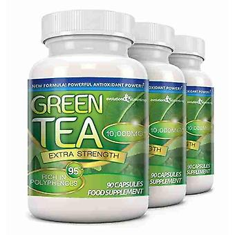 Green Tea Extra Strength 10,000mg with 95% Polyphenols - 270 Capsules (3 Months) - Antioxidant - Evolution Slimming