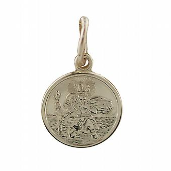 9ct Gold 10mm round St Christoper Pendant Only Suitable for Children