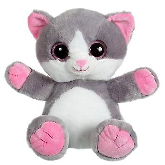 Gipsy Kitty sympathique peluche 25cm - gris / rose