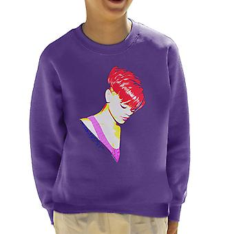 Rihanna With Red Hair Kid's Sweatshirt