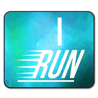 Run Gym Active Jog Sport  Non-Slip Mouse Mat Pad 24cm x 20cm | Wellcoda