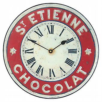 Roger Lascelles St Etienne Schokolade Wanduhr - 36cm
