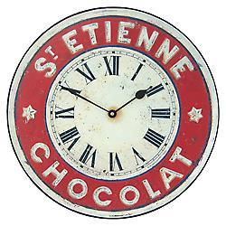 Roger Lascelles St Etienne Chocolate Wall Clock - 36cm