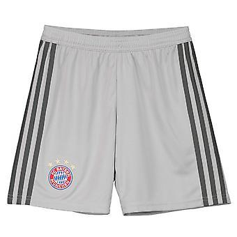 2018-2019 Bayern Munich Adidas Home Goalkeeper Shorts (Grey) - Kids