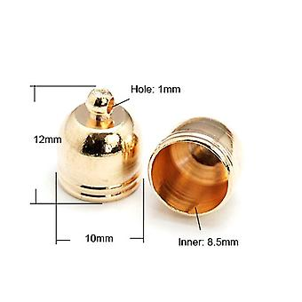 Packet 10 x Rose Gold Plated Brass Bell-Shape End Caps 10 x 12mm HA12110