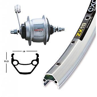Bike parts 26″ wheel Exal ZX 19 + hub gears Shimano 8-speed (RB)