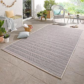 Design Outdoorteppich Caribien grå
