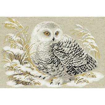 White Owl Counted Cross Stitch Kit-17.75