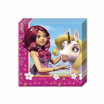 MIA & me Elf Unicorn party napkins 33 x 33 cm 20pcs children birthday theme party