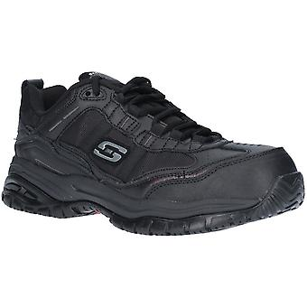 Skechers Mens Soft Stride Relaxed Fit Laced Safety Shoes