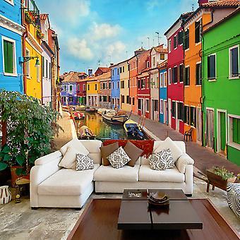 Tapeter - färgglada kanalen i Burano