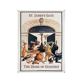 Guinness St James Gate (Animals) Large Metal Sign 300Mm X 400Mm
