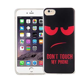 Mobiele telefoon geval voor Apple iPhone 7 cover case beschermende zak motief slim TPU + armor bescherming glas 9 H niet raken mijn telefoon rood
