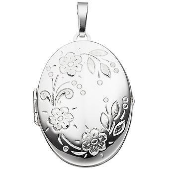 925 /-s medalion Medalik srebrny kwiat srebrny medalion