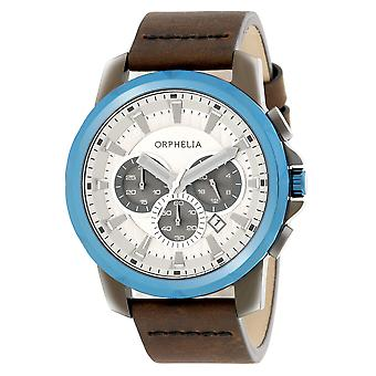 ORPHELIA Mens Chronograph Watch Five senses Brown Leather OR81503