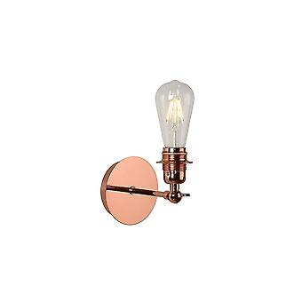 Lucide Retro Red Copper Vintage Style E27 Wall Sconce