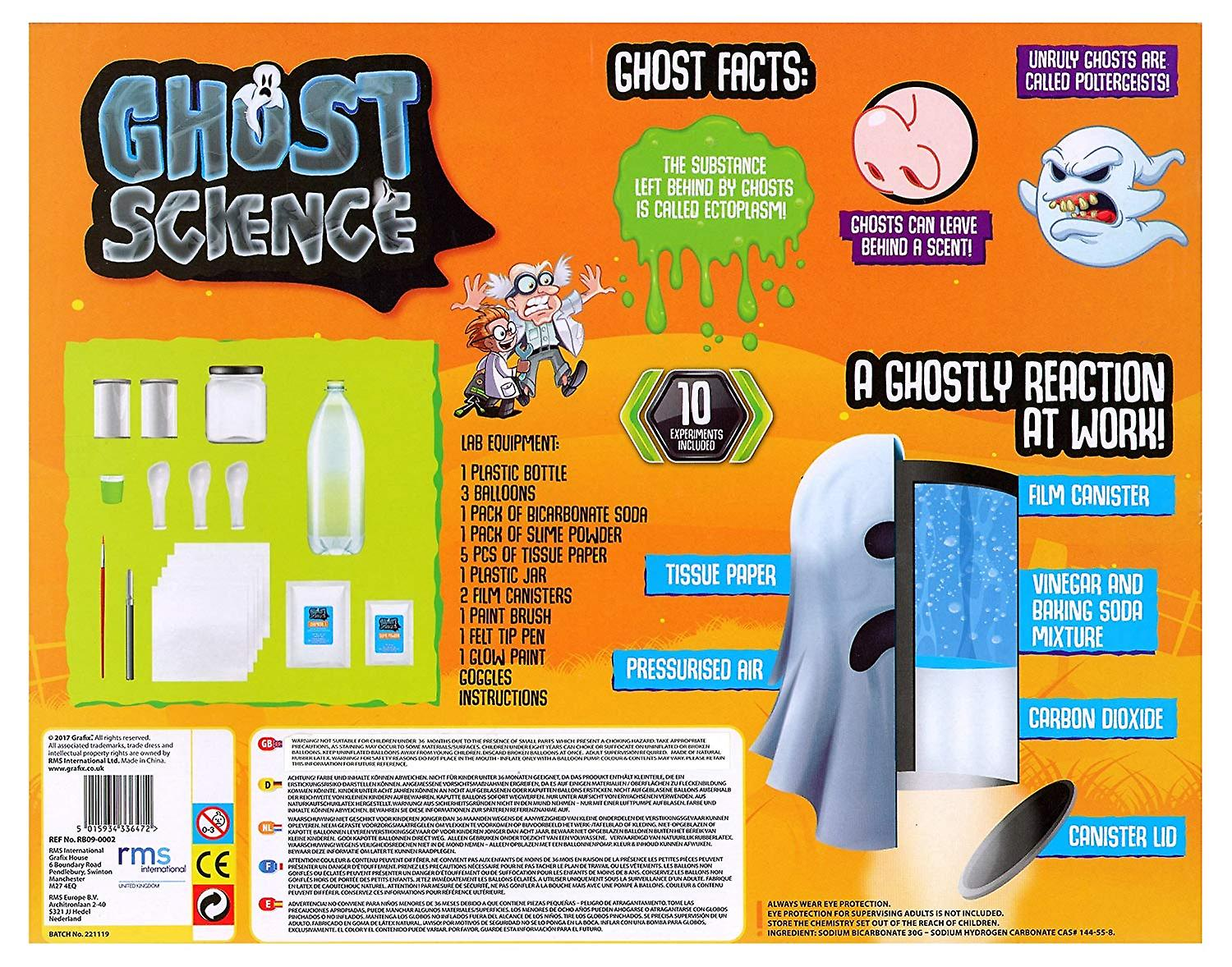 Weird Science Scary Ghost Horror Experiment Kit Childrens Activity Set