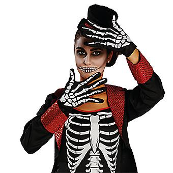 Skeleton gloves bone glove accessory Carnival Halloween