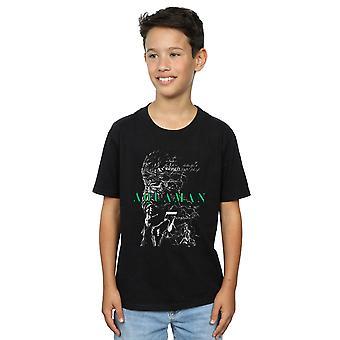 DC Comics garçons Aquaman le T-Shirt de croquis de tranchée