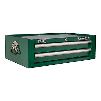 Sealey Ap26029Tbrg Add-On Chest 2 Drawer With Ball Bearing Runners - Green