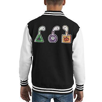 Halloween Ghost Potions Kid's Varsity Jacket