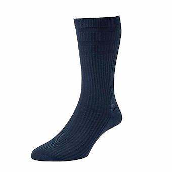 HJ190 Hall Mens Softop Extra Wide Loose Wool Rich Socks