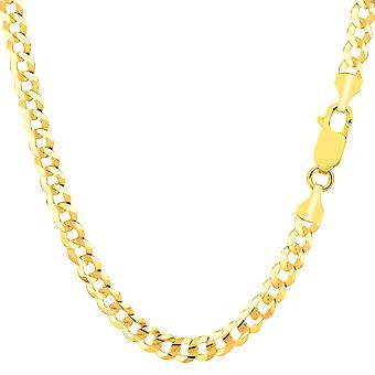Collana a catena marciapiede giallo oro Comfort 10 k, 4,7 mm