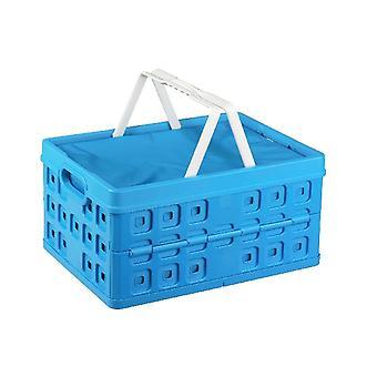 SunWare Quadrat falten 32 Liter Kiste mit Griff + Kühler Tasche bla