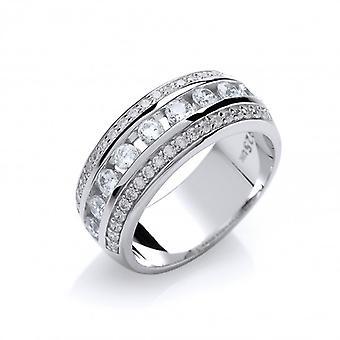 Cavendish Franse CZ eeuwige liefde Ring