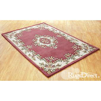 Royal Indian Rose Shades of cream, green and beige on a rose / pink background  Rectangle Rugs Traditional Rugs