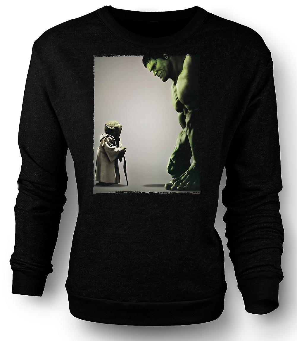Mens Sweatshirt Yoda V Hulken - Super Hero