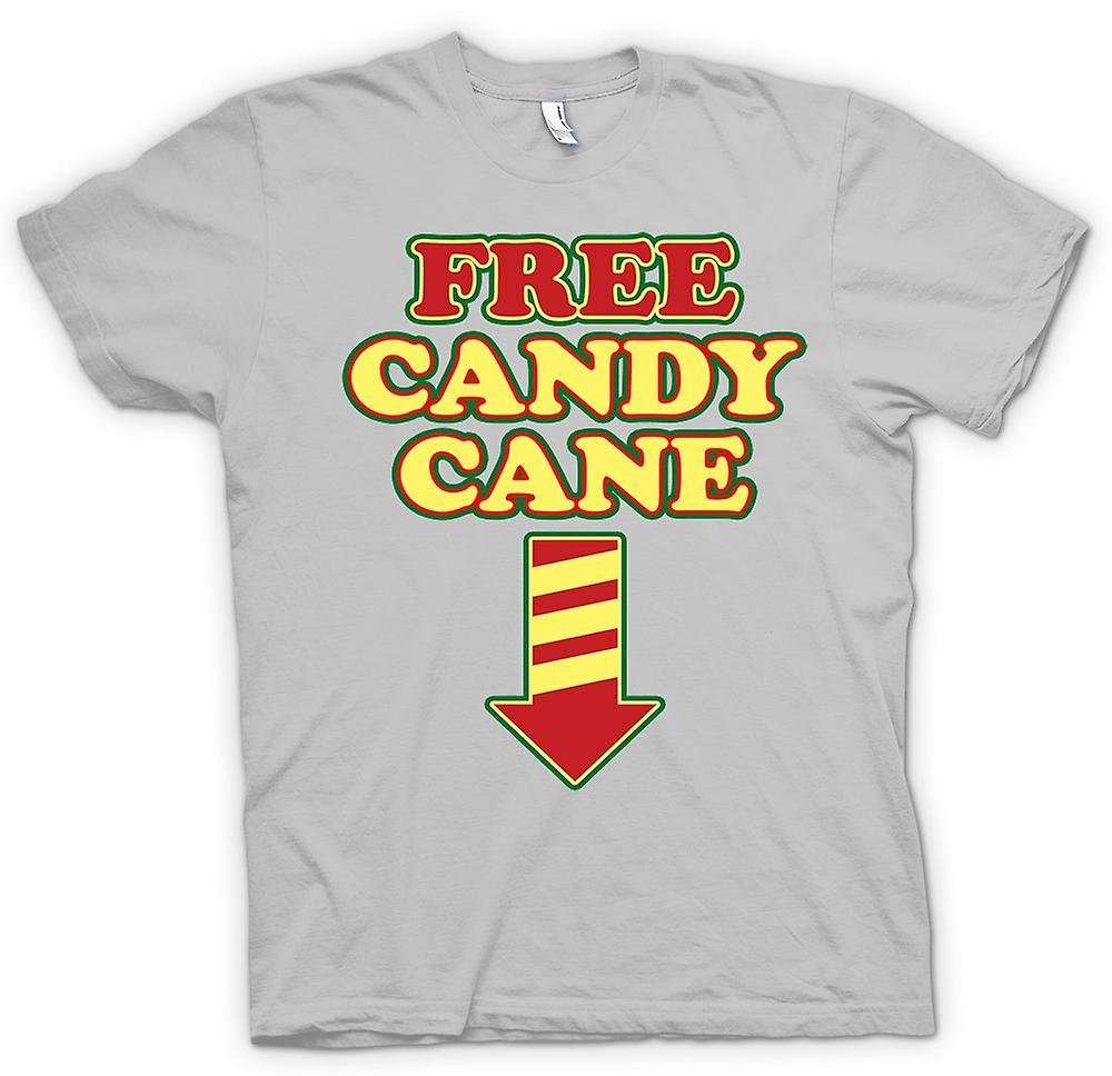 Mens T-shirt - Free Candy Cane - Funny Christmas