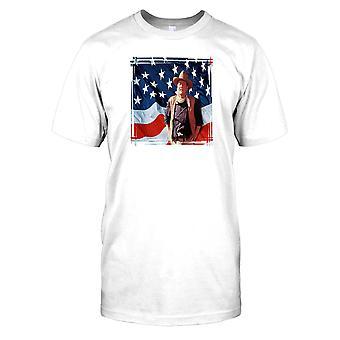 John Wayne and the American Flag - Hollywood Legend Mens T Shirt