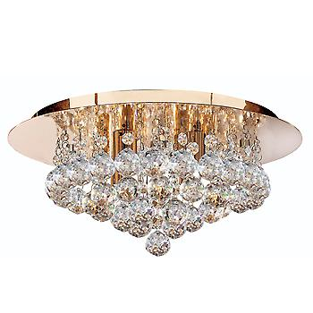 Searchlight 3404-4GO Hanna 4 Light Flush Ceiling Crystal Light