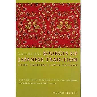 Kilder til japanske traditioner: v. 1: fra tidligste tider til 1600 (introduktion til asiatiske civilisationer)