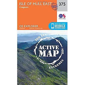 OS Explorer mapa ativo (375) ilha de Mull leste (Explorer OS mapa ativo)