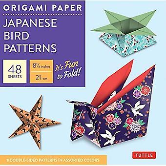 Origami papel: patrones del pájaro japonés: ideal para pequeños proyectos o en la carpeta de inicio