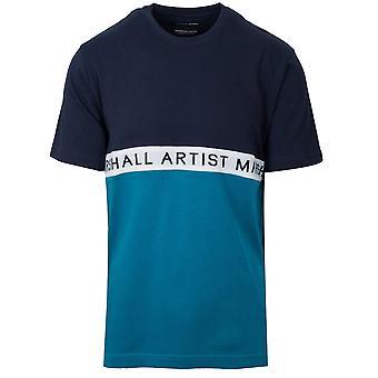 Marshall Artist Marshall Artist Navy & Teal Short Sleeve T-Shirt