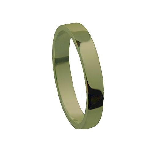 9ct Gold 3mm plain Flat Wedding Ring