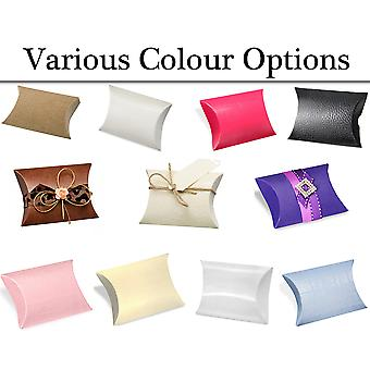 10 Pillow Shape Card Gift Boxes - Wedding Party Favours