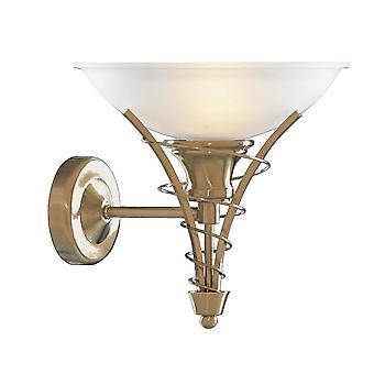 Linea Antique Brass e Applique in vetro opale - Searchlight 5227AB