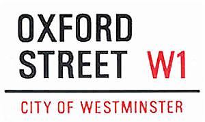 Oxford Street large sized enamel sign    (gg)