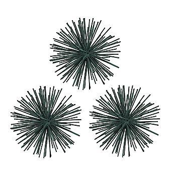 زنجار إنهاء 3D المعادن انفجار نجم الجدار الشنق مجموعة 3