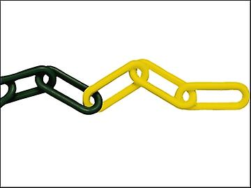 Faithfull Plastic Chain 8mm x 12.5m Yellow / Black