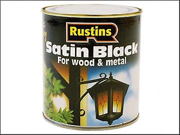 Rustins Satin Black Paint Quick Drying 1 Litre