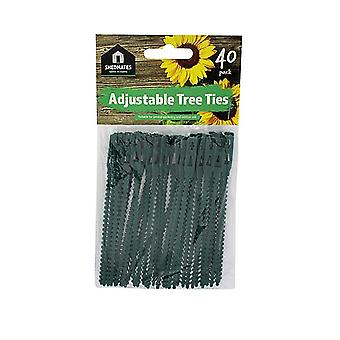 Pack of 40 Shedmates GS40TT Green Plastic Adjustable 14cm (5.5