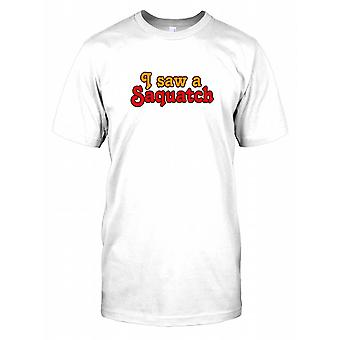 Ich sah ein Sasquatch - Verschwörung-Herren-T-Shirt