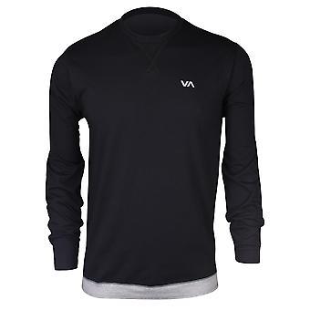 RVCA Mens VA Sport Runner Mesh LS Shirt - Black
