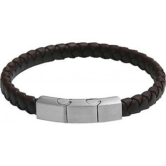 Clio Blue BR2376S - Black Brown closing steel man Bracelet bracelet